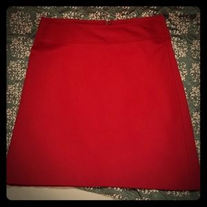 Talbots wool red skirt size 8